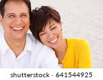 happy couple laughing | Shutterstock . vector #641544925