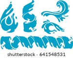 water shapes set | Shutterstock .eps vector #641548531