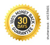 30 days money back guarantee... | Shutterstock .eps vector #64155601