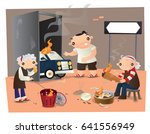 ancestor worship in chinese... | Shutterstock .eps vector #641556949