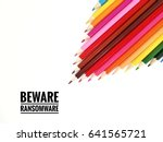 multicolored pencils with word... | Shutterstock . vector #641565721
