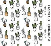 cacti print | Shutterstock .eps vector #641567065