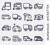 van icons set. set of 16 van... | Shutterstock .eps vector #641567755