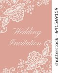 wedding or greeting card with...