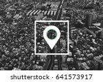 map pin location direction... | Shutterstock . vector #641573917