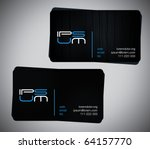 two original business cards ... | Shutterstock .eps vector #64157770