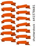 set of orange cartoon ribbons... | Shutterstock .eps vector #641578681