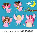 collection of cute spring...   Shutterstock . vector #641588701