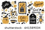 set of coffee time elements... | Shutterstock .eps vector #641589034