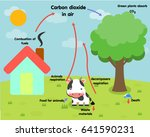 the carbon cycle | Shutterstock .eps vector #641590231