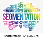 segmentation word cloud collage ... | Shutterstock .eps vector #641602375