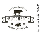butchery shop logo template.... | Shutterstock .eps vector #641602459