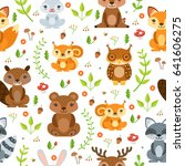 vector seamless pattern of... | Shutterstock .eps vector #641606275
