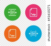 archive file icons. compressed... | Shutterstock .eps vector #641610271