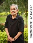 elderly asian man | Shutterstock . vector #64161157