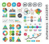 business charts. growth graph.... | Shutterstock .eps vector #641618545
