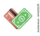 credit card with money currency ... | Shutterstock .eps vector #641620135