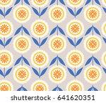 seamless floral pattern | Shutterstock .eps vector #641620351