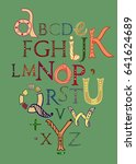 hand drawing lettering in... | Shutterstock .eps vector #641624689