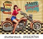 diner  vintage poster | Shutterstock .eps vector #641624764