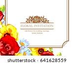 vintage delicate invitation... | Shutterstock .eps vector #641628559