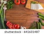 vegetables on the table top... | Shutterstock . vector #641631487