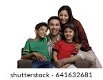 portrait of a family   | Shutterstock . vector #641632681