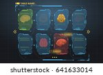 set of hud infographic panels... | Shutterstock .eps vector #641633014