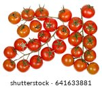 branches of cherry tomatoes... | Shutterstock . vector #641633881