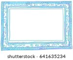 vector illustration of blue... | Shutterstock .eps vector #641635234