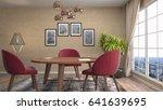 interior dining area. 3d... | Shutterstock . vector #641639695