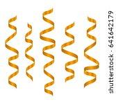 orange serpentine ribbons...   Shutterstock .eps vector #641642179