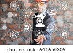 industry 4.0 robot arm concept. ... | Shutterstock . vector #641650309