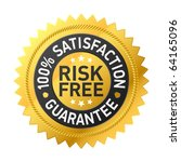 risk free guarantee label.... | Shutterstock .eps vector #64165096