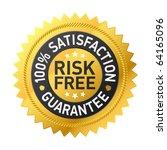 risk free guarantee label.... | Shutterstock .eps vector #64165096