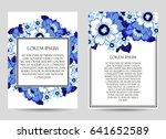 vintage delicate invitation... | Shutterstock .eps vector #641652589