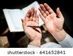 muslim man hands holding rosary ... | Shutterstock . vector #641652841