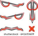vehicle graphics  stripe  ... | Shutterstock .eps vector #641653609