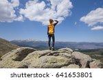 sport hiking or trekking woman... | Shutterstock . vector #641653801