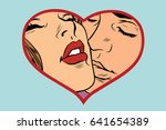 man and woman kissing  love... | Shutterstock .eps vector #641654389