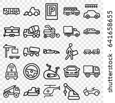 vehicle icons set. set of 25... | Shutterstock .eps vector #641658655