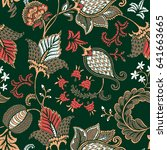 seamless pattern with fantasy... | Shutterstock .eps vector #641663665