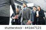 business people shaking hands ... | Shutterstock . vector #641667121
