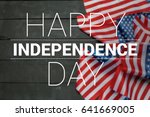 happy fourth of july usa flag | Shutterstock . vector #641669005