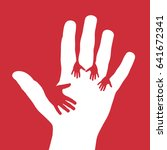 vector cover five child hands ... | Shutterstock .eps vector #641672341