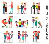 concept of parents day on white ... | Shutterstock .eps vector #641672881