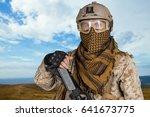 american soldier | Shutterstock . vector #641673775