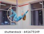 plastic beautiful girl gymnast... | Shutterstock . vector #641675149