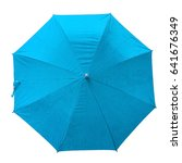 Sky Blue Umbrella. Isolated...
