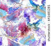watercolor seamless pattern... | Shutterstock . vector #641681281